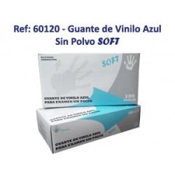 Guante Vinilo Azul Soft sin empolvar