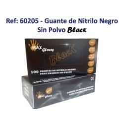 Guante Nitrilo Negro sin empolvar