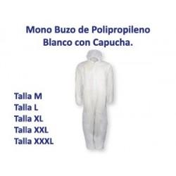 Mascarilla Polipropileno Rectangular 3 Capas con Gomas Blanco