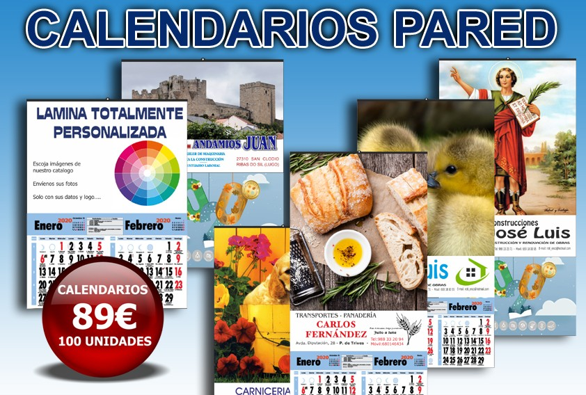 Calendarios Pared Economicos
